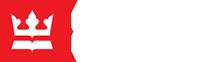 Logo Biblioteki Nardowoej, biała korona w w czerwonym kwadracie