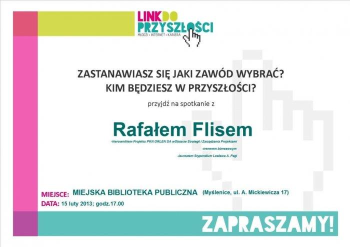 Spotkanie z Rafałem Flisem