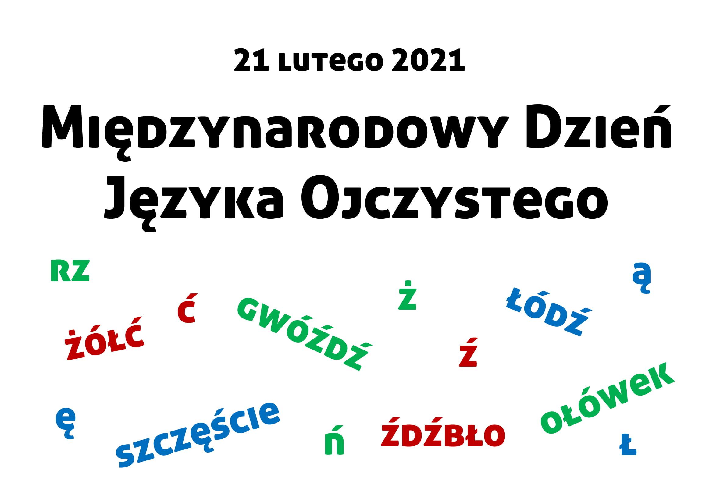 Międzynarodowy Dzień Języka Ojczystego, literki, napis