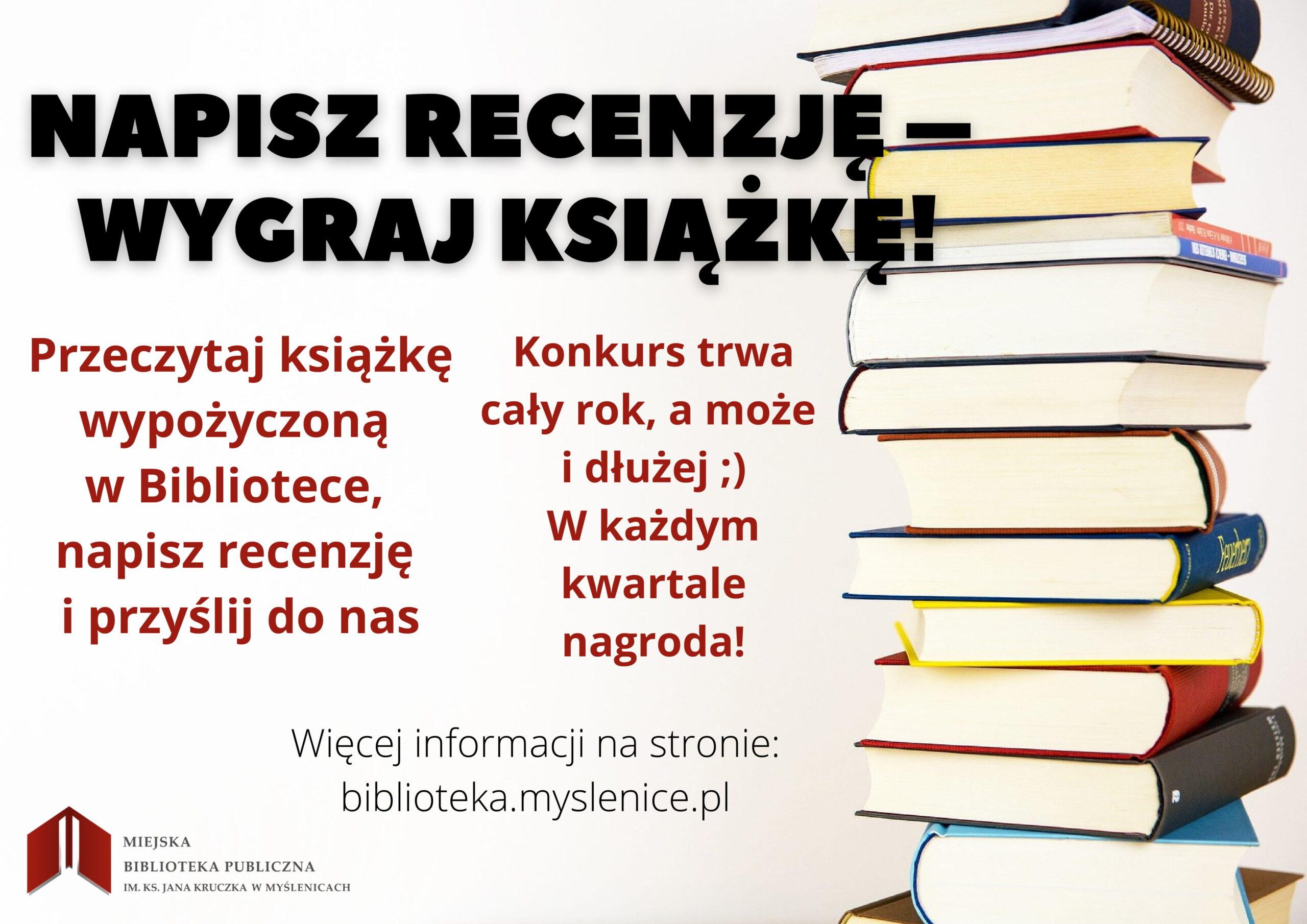 Napisz recenzję – wygraj książkę!