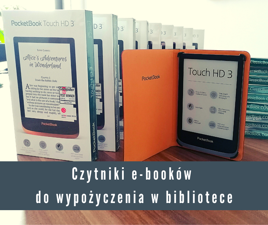 Czytniki e-booków do wypożyczenia w Bibliotece