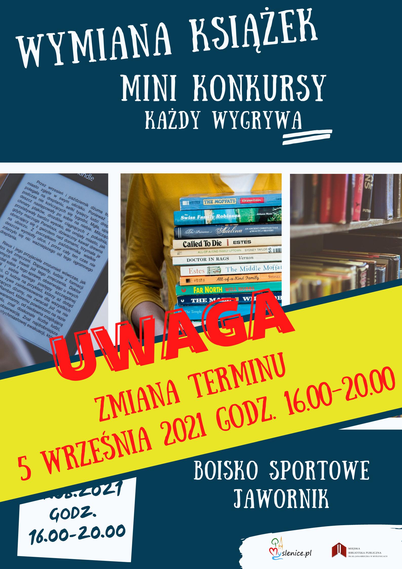 Wymiana książek – Jawornik zmiana terminu 5.09.2021